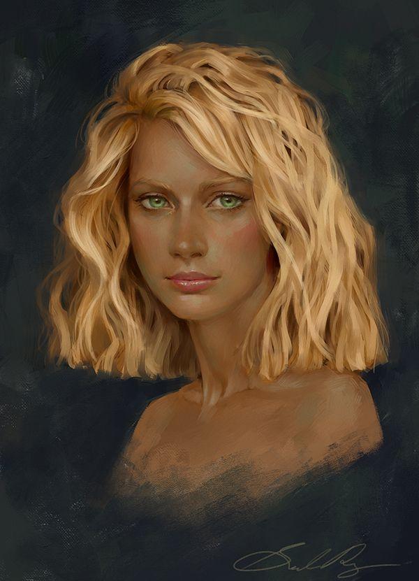 Commission: Fara by Selenada.deviantart.com on @deviantART  Love the hair!