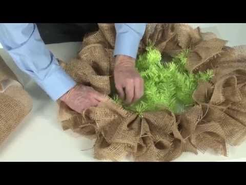 How to make a Burlap Paper Mesh Wreath I needed to know a good size to cut this stuff and use. This helped me! Now I can get started on my paper mesh wreath. Do not confuse with wire mesh. Close but no cigar!