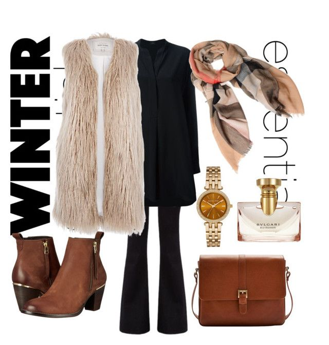 """#mydailyfashion#sultankurtay"" by sultankurtay on Polyvore featuring Citizens of Humanity, Joseph, River Island, Burberry, Joules, Steve Madden, Michael Kors and Bulgari"