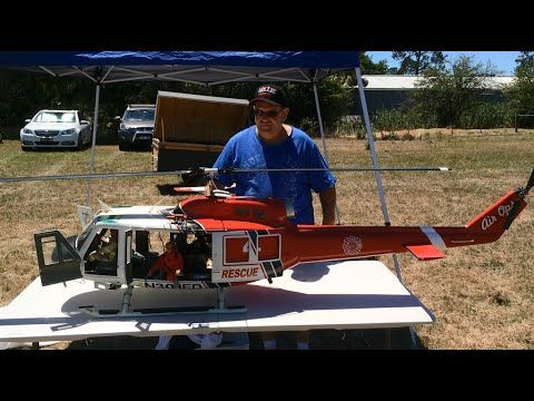 """Huge Scale RC Helicopter - Bell 205 """"Huey"""" - YouTube"""