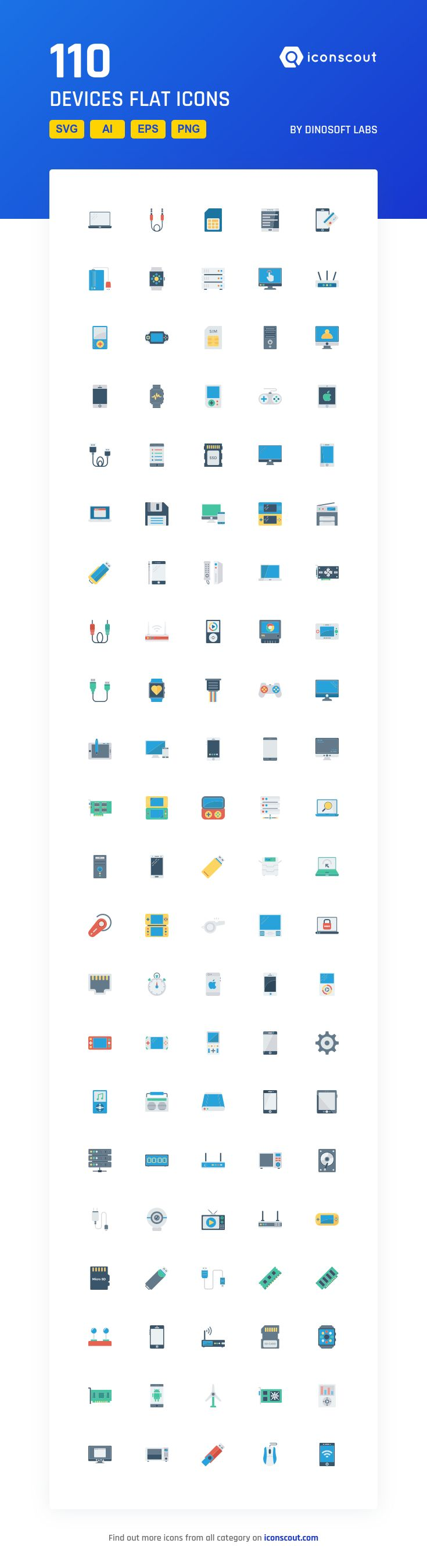 Devices Flat   Icon Pack - 110 Flat Icons
