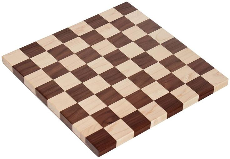 Two woods are used in this Amish made Wooden Checker Board Game to create the checker or chess squares.