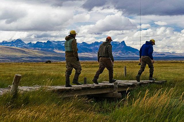 Fly fishing in Patagonia. #ecocamppatagonia
