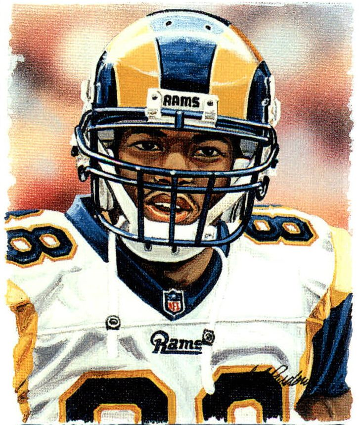 Torry Holt, St. Louis Rams by Bill Purdom, 2001.
