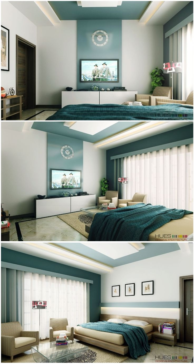 white aqua blue bedroom