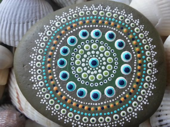 Dot Painted Stones/Painted Rocks/TheLakeshoreStore/Painted Stones/Beach Rocks/Lake Erie on Etsy, $20.00