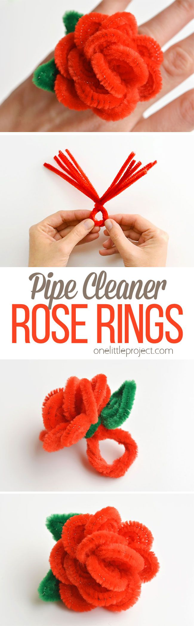 How to Make Pipe Cleaner Rose Rings