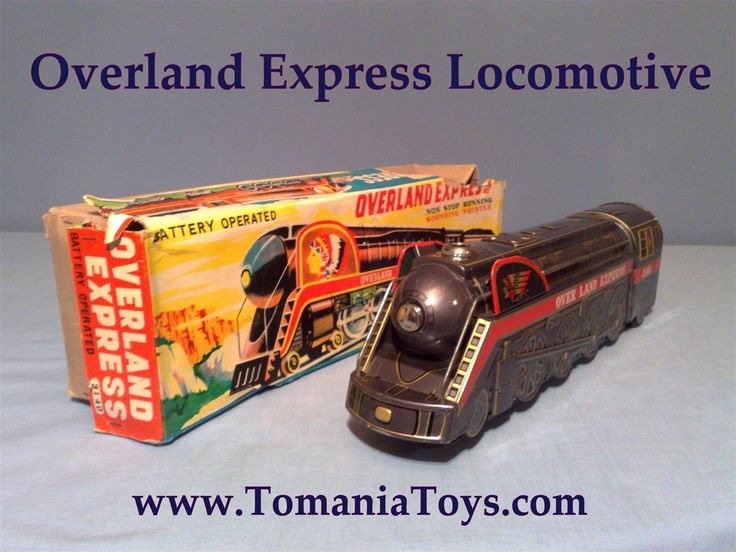 Overland Express 3140  Battery Operated  Non Stop Running - Sounding Whistle  Modern Toys MT Trade Mark  Made in Japan  Patent no. 14605 27304