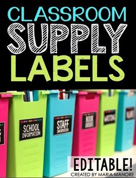 Organize your classroom with this set of stylish supply labels. Featuring white text over a bold black background with a simple row of polka dots across the top edge; this Classroom Supply Label set contains everything you need to label your classroom materials.