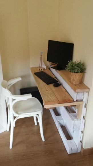 DIY : Palettes de chantier -!palette desk