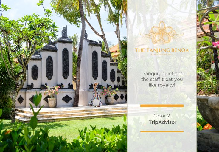 Thank you, Landi R. for the kind words. We at #TheTanjungBenoaBeachResortBali are committed in making every istay memorable and personal. We hope to see you again in the near future!  #TheTanjungBenoaBeachResortBali #TheTanjungBenoa #TheTaoBali #Bali