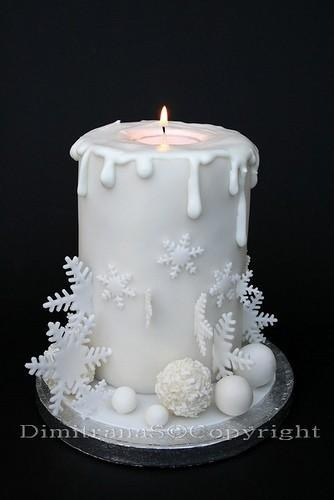 Christmas Candle by Feed Me Cakes http://www.feedmecake.co.uk/