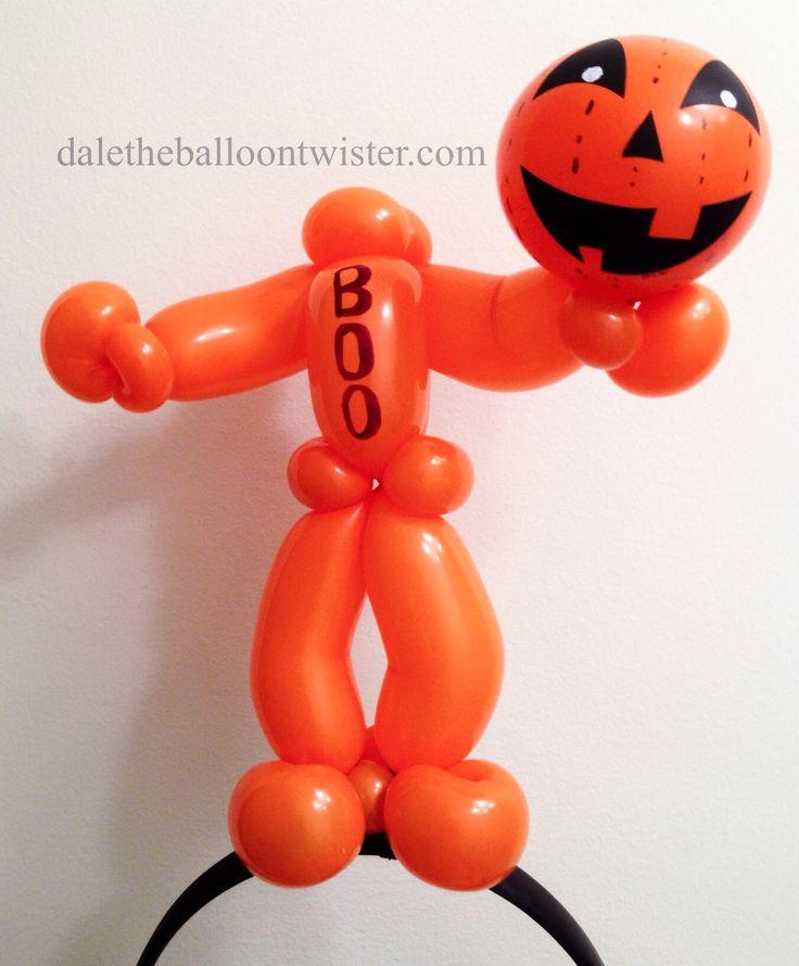 headless jack o lantern man on a hairband balloon hatballoon animalsballoon ideasballoon decorationshalloween balloonshalloween - Halloween Balloon Animals