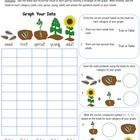 Sunflower Life Cycle Graphing Worksheet - This product includes 1 sunflower graphing worksheet and 1 sunflower spinner wheel. It is to be used as ...