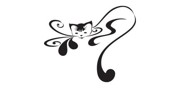 Gatto stilizzato - Sosprint - Decorazioni murali, Stampa su T-shirt