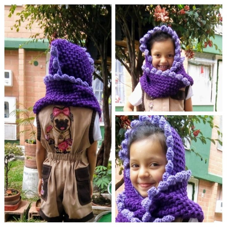 Bufanda tejida a crochet.