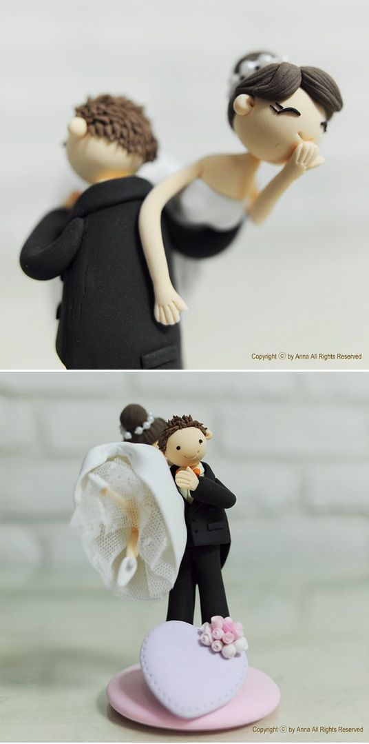 I know this is a wedding cake topper, but doesn't this remind you @Vanessa Kaimo of prom (sans James and me on the side)?