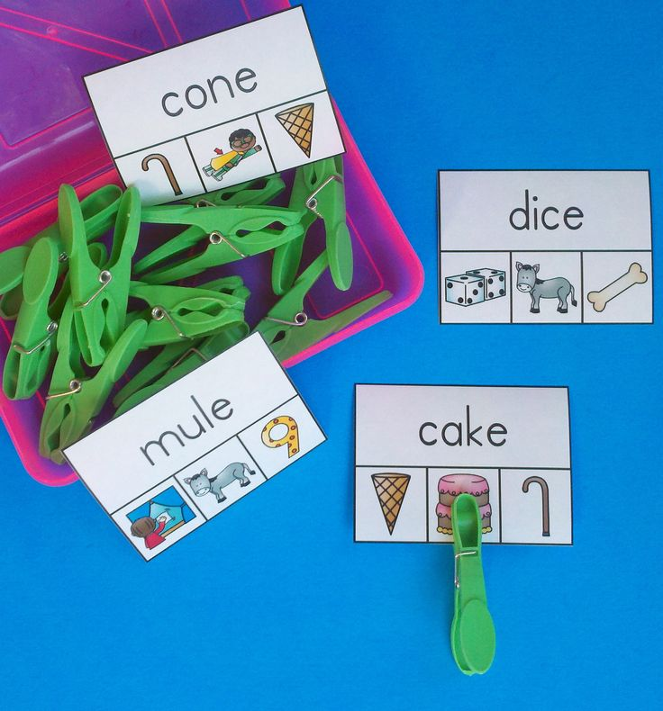 Phonics Fun for Your Little Learners! Great for Morning Tubs, Literacy Centers, Early Finishers, and Informal Assessment! $ #phonics #vowels #literacycenters #kampkindergarten #morningtubs https://www.teacherspayteachers.com/Product/Vowel-WordPicture-Clip-Cards-2264473
