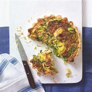 Leek, kale and gruyère tart at Delicious magazine U.K.