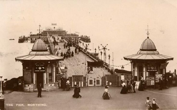 Worthing Pier, designed by James Mansergh in the 1880s. West Sussex England.