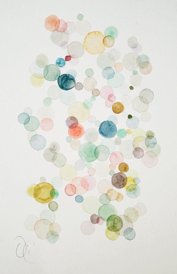 Dies ist ein original abstrakte Aquarell auf strukturierten Papier, 300 g mit gold Tinte Details.    Bitte beachten Sie, dass Farben je nach Monitortyp minimal abweichen    Liebevoll verpackt in einer Schutzhülle Cello mit Pappe backing Board und in eine Kurve-Beweis-Faserplatten-Umschlag versendet.    Signiert auf Vorderseite    Größe: 9 x 12 Zoll---24 x 16 cm.    Format: ungerahmt