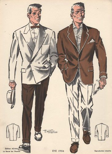 Summer Fashion for Men, Vintage Print, 1950s
