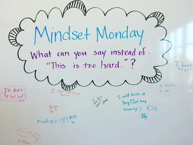 Mindset Monday....this is a cute idea. Instead of always having bell work or warm up that are always content based how about switching it up with some motivational leads??