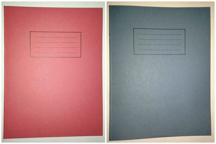 Silvine Exercise Book Lined With Margin 80 Pages 229x178mm Blue & Red