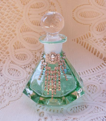 Embellished vintage perfume scent bottle                                                                                                                                                                                 More