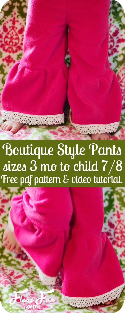 This free child pants pattern is easy to make, and there's a video tutorial that makes it so easy! I'm making a few pairs for my little one!