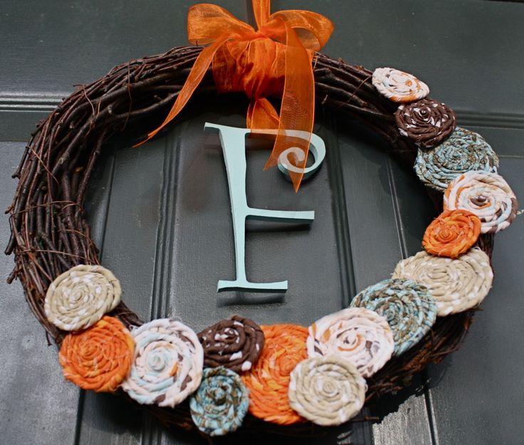 Love fall wreaths!: Crafts Ideas, Fall Decor, Home Decor Ideas, Crafty, Fall Wreaths, Front Doors Wreaths, Autumn Wreaths, Diy, Fabrics Flowers