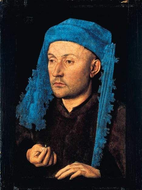 Man in Blue Turban,1430  by Jan Van Eyck