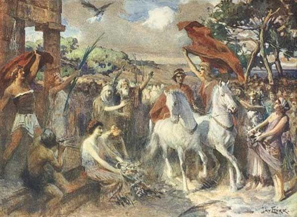 Arrival of Telemachus , Jan Styka | Odyssée - Télémaque