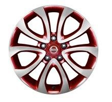 "Nissan Juke Red Diamond-Cut Alloy Wheel 17"" #Personalisation #Accessory #DesignStudio #Genuine #Styling #Red"