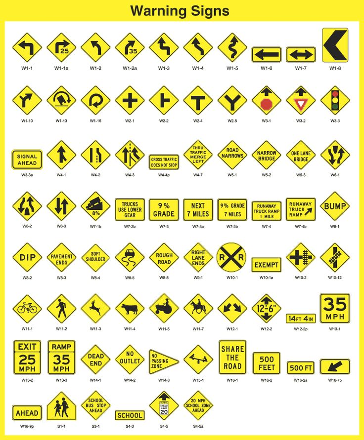 Warning Signs from Traffic Sfaety Corporation - TSC   # ...
