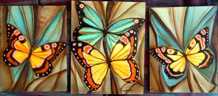 cuadros pintura acrilica con mariposas