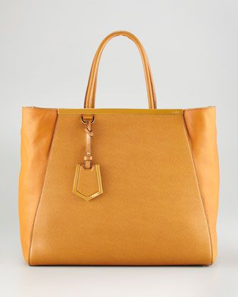 Structured Leather Shopping Tote, Black by Fendi at Neiman Marcus.