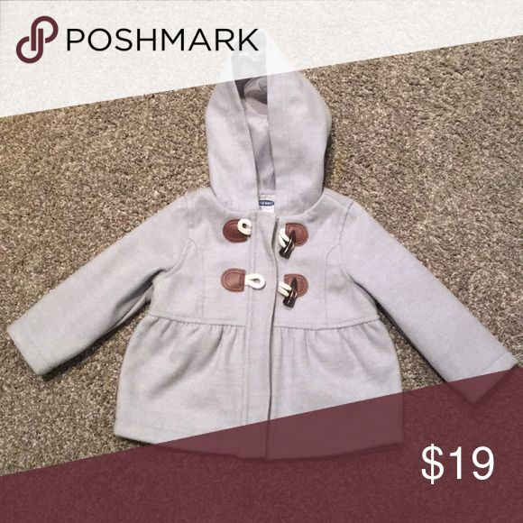 Baby girl peacoat Baby girl grey peacoat only worn a couple times in great condition 12-18 months- zips up w 2 toggle button closure Old Navy Jackets & Coats Pea Coats