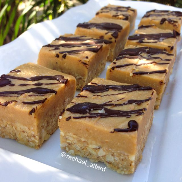 Chewy caramel slice. Somebody stop me from eating them all!