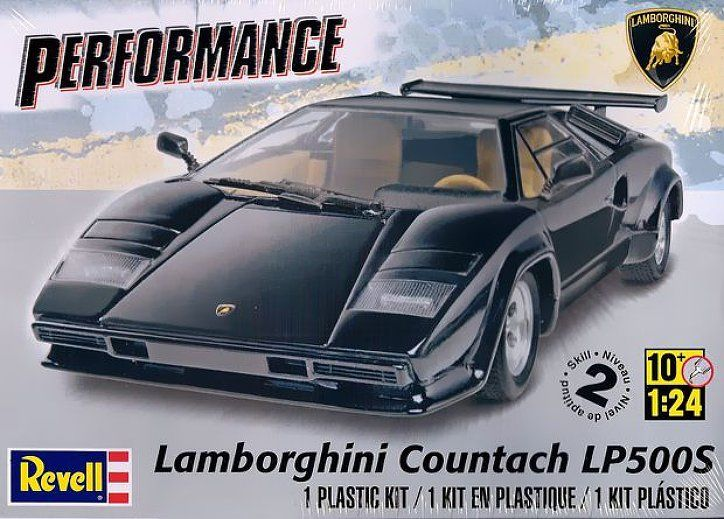 REVELL 1:24 Lamborghini Countach LP500S Niveau 2 32.99$ Achetez-le info@laboiteasurprisesdenicolas.ca
