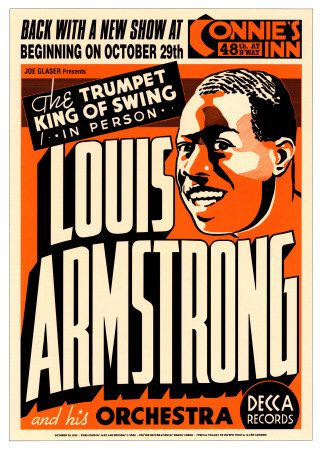Louis Armstrong at Connie's Inn, New York City, 1935 at Allposters.com at AllPosters.com