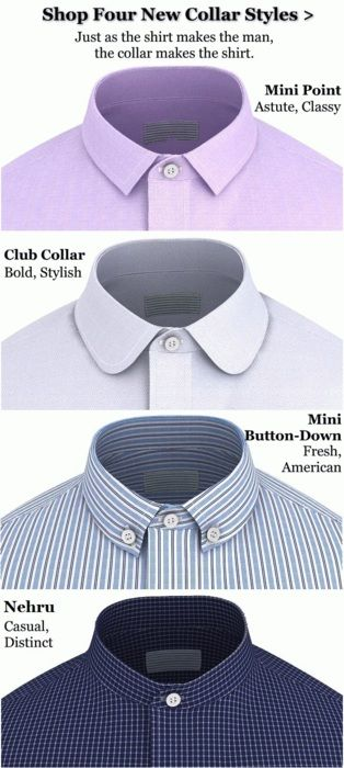 Some additional shirt collar styles.