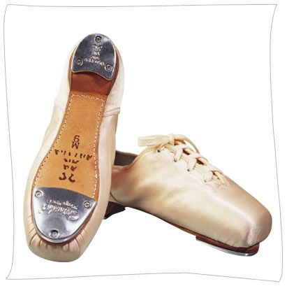 Pointe shoes that are tap on toe - very difficult to do. See my videos below of toe tapping.