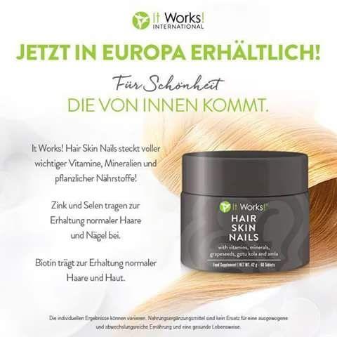 Produkttester gesucht! 90Tage testen, pro Monat 35,31€+ Versand. Längeres, gesundes und schnell wachsendes Haar, geschmeidige Haut und festere Nägel! heikemeyer.itworkseu.com/de