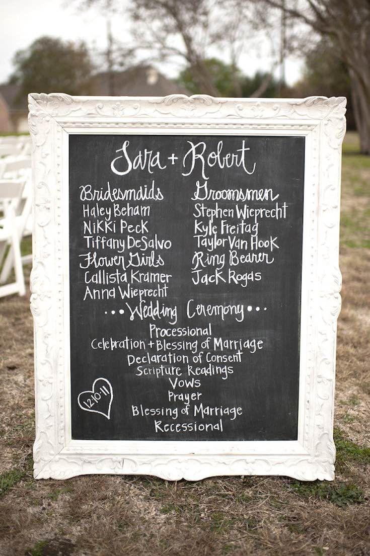 Beste Einzigartige Hochzeitsprogramme Vorlagen Ideen - Entry Level ...