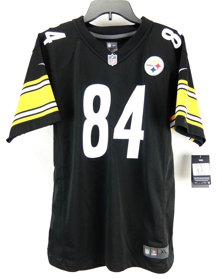 Antonio Brown Pittsburgh Steelers Black Nike NFL Jersey Youth Boys Size XL 18/20 #Nike #PittsburghSteelers