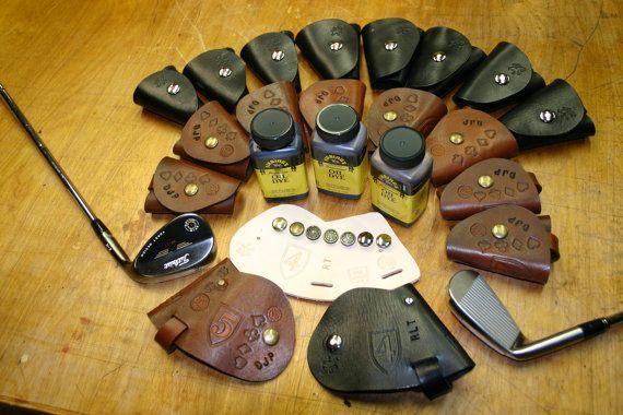 ClubShields Custom Made Leather Golf Head Covers