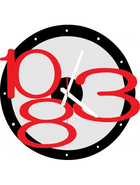 3D Wall Clock Exclusive, Color: Black, Red Numbers, Hand Color: White Reference:  X00013-RAL9005-RAL3000 Condition:  New product  Availability:  In Stock  Time to change! Decorating watches will revive every interior, highlight the charm and style of your space. Discover your living with new clocks. Plexiglass wall clocks are a wonderful decoration of your interior.