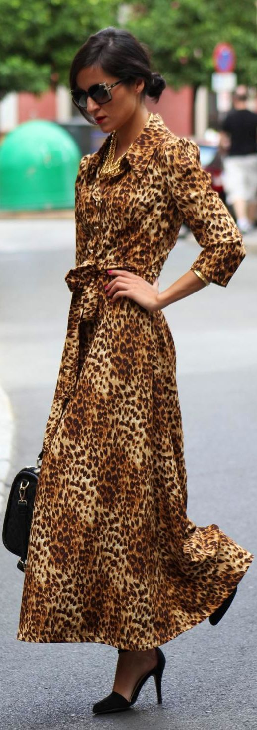 1000  ideas about Leopard Maxi Dresses on Pinterest  Sewing ...