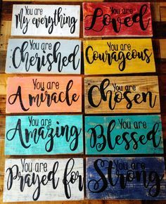 Rustic encouragement sign, blessed sign, photo prop, Christian sign, rustic chosen sign, pallet board home decor, Christian decor by EdisonAvenue on Etsy